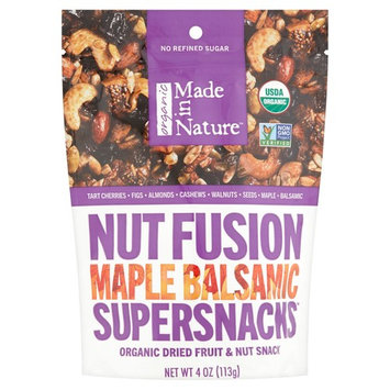 Made in Nature Organic Dried Fruit & Nuts Super Snack, Nut Fusion Maple Balsamic, 4 Oz, 6 Ct