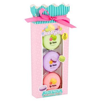 Enchante Accessories Inc Just 4 Girls Lip Balm Set, 0.25 oz, 3 count
