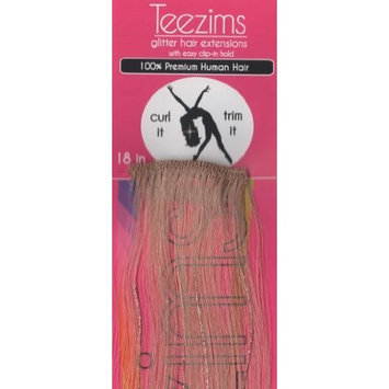 Teezim Glitter Hair Extensions 18 Inches Made with Permium Human Hair in Black