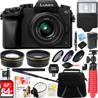 Panasonic LUMIX G7 Interchangeable Lens 4K HD DSLM Camera w/ 14-42mm Lens + 64GB Bundle