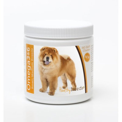 Healthy Breeds 840235142546 Chow Chow Omega 3 & 6 Soft Chews - 60 count