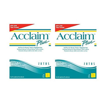 [ VALUE PACK OF 2] ZOTOS ACCLAIM PLUS ACID PERM FOR NORMAL TINTED OR HIGHLIGHT HAIR (SOFT): Beauty