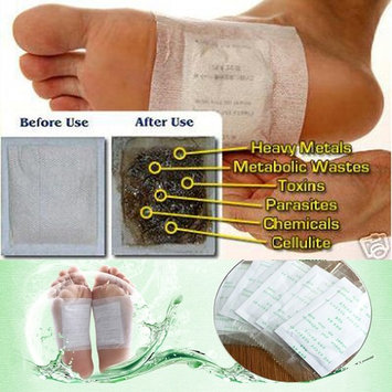 100 Detox Foot Pads Patch Detoxify Remove Toxins Patches with Adhesive Keeping Fit Health Care Weight Loss Stress Relief