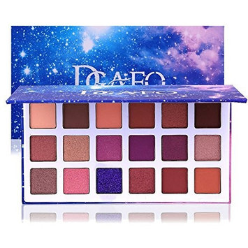 DONGXIUB Glitter Metal Shimmer Matte 18 Colors Eyeshadow Combination Smoky with Starry Sky Makeup Palette Cosmetics