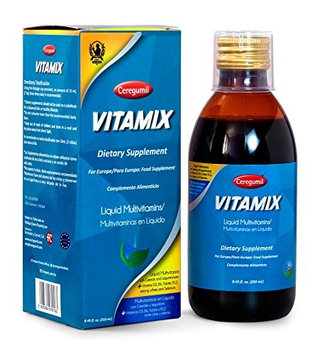 Ceregumil VITAMIX Liquid Multivitamin with Vitamin B Complex (B12, B6), Vitamin D3 & Biotin Natural, Mediterranean Plant-Based Formula for Children, Teens, Adults & Seniors