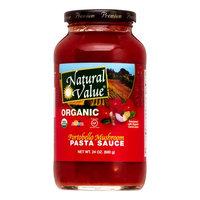 Natural Value Organic Pasta Sauce, Portabella Mushroom, 24 Oz