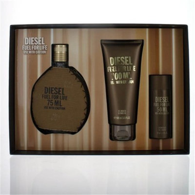 Diesel GSMDIESELFUEL3PC25SG 2.5 oz Diesel Fuel for Life Eau De Toilette Spray Gift Set - 3 Piece