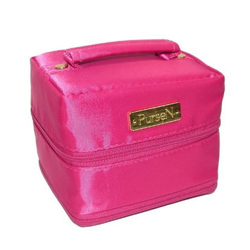 PurseN Tiara Small Weekender Jewelry Case (Hot Pink/ Leopard)