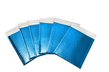 Packagingsuppliesbymail Glamour Bubble Mailers-13.75' x 11'-Blue-300 Pieces = 6 Cases