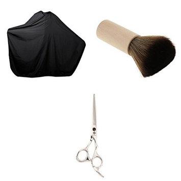 Dovewill Profesional Salon Hair Cutting Scissors Shears + Neck Duster Brush +Barber Hair Cape