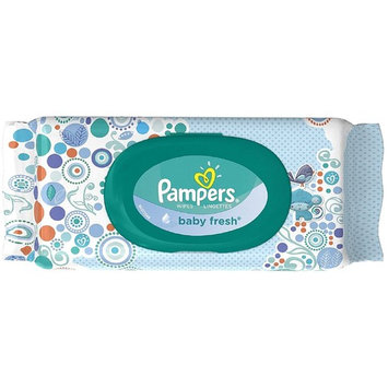 Pampers Baby Fresh Wipes Travel Pack 64 ea