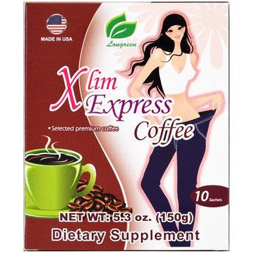 Longreen Corporation, Xlim Express Coffee, 10 Sachets, 5.3 oz (pack of 3)