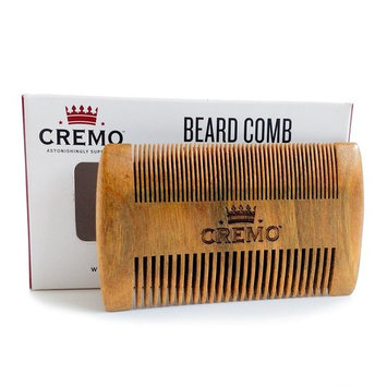 Cremo Dual-Sided 100% Sandalwood Beard Comb That Is Static Free And Won't Pull Or Snag Facial Hair [Beard Comb]