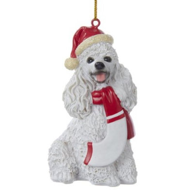 Pack of 3 Christmas Cavalier Schnauzer Puppy Dog Ornaments for Personalization 3.75