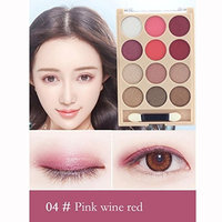 12 Colors Shimmer Eye Shadow Palette ,YOYORI Shimmer EyeShadow Diamond Pigment Waterproof Natural Cosmeticfor Naked Natural Nude Bronze or Smokey Eye Makeup
