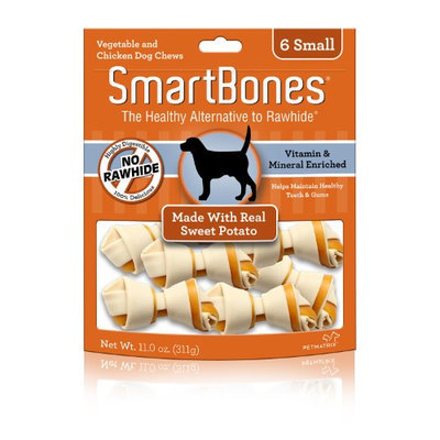 SmartBones Vegetable and Chicken Bones with Real Sweet Potato: Small