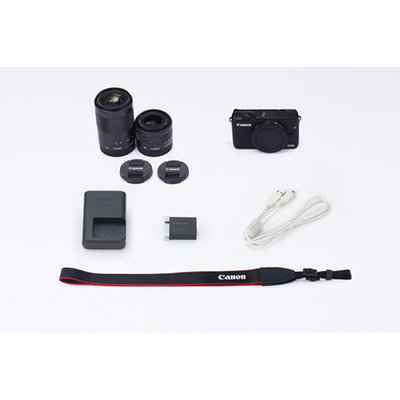 Canon EOS M10 Mirrorless Digital Camera with EF-M 15-45mm f/3.5-6.3 IS STM and EF-M 55-200mm f/4.5-6.3 IS STM Camera Kit - Black