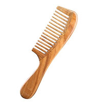 Wide Tooth Hair Comb Carejoy Green Sandalwood Natural Anti-Static Comb for Detangling Wet Hair Valentines'Day Mothers'Day gifts