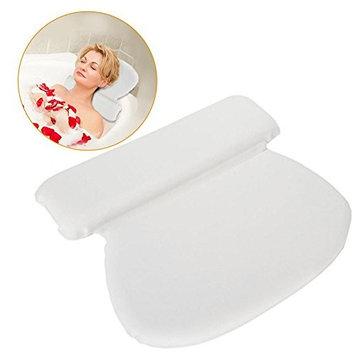 PU Bathtub Headrest Pillow, Foam Inner Stuff Padding Bathtub Circle Pad for Neck Back Support