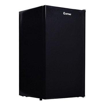 Costway 3.2 Cu. Ft. Compact Single Reversible Door Mini Refrigerator and Freezer Office