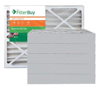 AFB Bronze MERV 6 18x30x4 Pleated AC Furnace Air Filter. Filters. 100% produced in the USA. (Pack of 6)