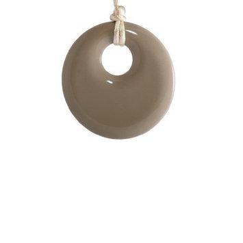 Pendant Teething Necklace Mocha