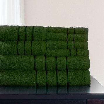 Lavish Home 8 Piece 100% Cotton Plush Bath Towel Set [Pattern : Solid; Item Type : Towel set]