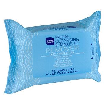 Smart Sense Facial Cleansing & Makeup Remover Wet Towelettes - 30 CT