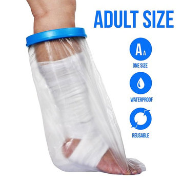 Waterproof Cast Cover for Shower & Bath - Adult Leg.