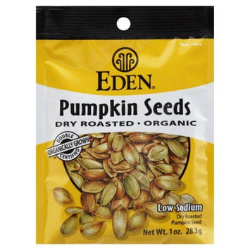 Eden Foods Pumpkin Seeds Pocket Snacks 12 Packages