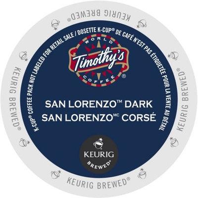 Keurig Timothy's World Coffee San Lorenzo Dark K-Cup Portion Pack