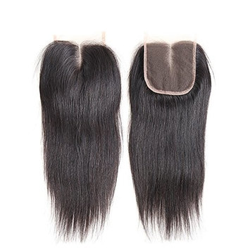 Straight Middle Part Closure 4