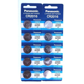 Panasonic CR2016 Lithium 3 Volt Watch Battery 10 Pack   (2) 5 Packs of Genuine Panasonic Coin Cell Batteries for Watches, Remotes, Key Fobs, Electronics