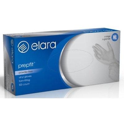 Elara FVP204 Prepfit Disposable Vinyl Glove, Powder Free, Latex Free, BPA Free, Food Service, Industrial, Janitorial, X-Large (Case of 1000)
