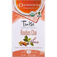 Davidson's Tea, Tulsi, Organic, Rooibos Chai Tea, Caffeine-Free, 25 Tea Bags, 1.58 oz (45 g) [Flavor : Rooibos Chai]
