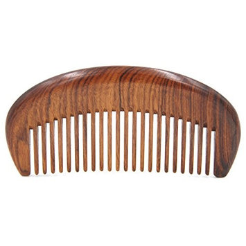 Handmade Premium Quality Natural African Mopane Wood medium tooth Massage Hair Comb, Seamless Pocket Wooden Comb 4.5