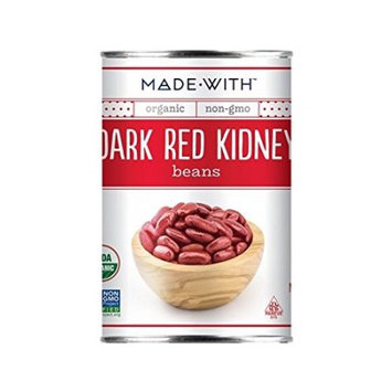 Made With Organic Kidney Beans, Dark Red, 15 Oz