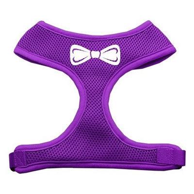 Mirage Pet Products 7033 LGPR Bow Tie Screen Print Soft Mesh Harness Purple Large