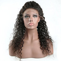 Doubleleafwig Curly Human Hair Lace Front Wigs 130% Density Brazilian Virgin Loose Deep Curly Wig with Baby Hair for Black Women