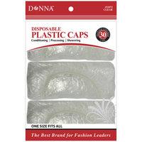 Donna Clear disposable Plastic Caps 30 Count