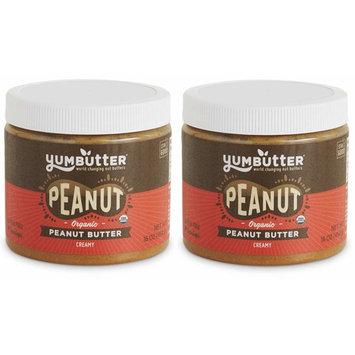 Organic Peanut Butter by Yumbutter, USDA Organic, Gluten Free, Vegan, Non GMO, 16oz Jar (Pack of 2)