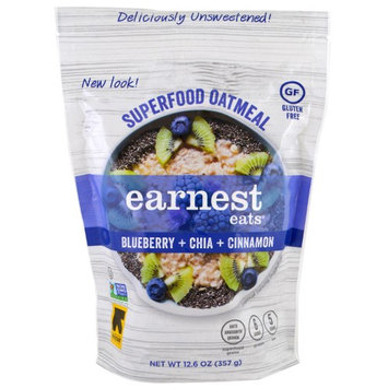 Earnest Eats, Superfood Oatmeal, Blueberry + Chia + Cinnamon, 12.6 oz (pack of 12)