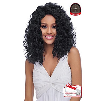 4x4 MULTI PARTING LACE WIG WITH SILK BASE, NATURAL WAVY, Multi-Direction Part (FLS10) (1B-OFF BLACK)