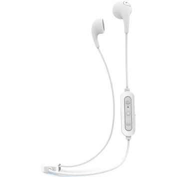 iLuv Bubble Gum Air Inner Ear Bluetooth Headphones (White) with Built-in Mic