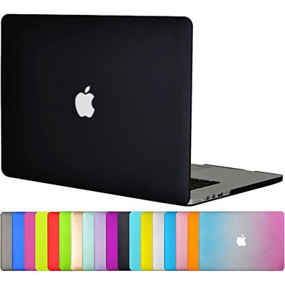 Topideal Matte Frosted Silky-Smooth Satins-Touch Hard Shell Case Cover for 15-inch MacBook Pro with 15.4