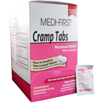 Cramp Tabs Menstrual Pain Relief Non-Aspirin 1 Box (500 tablets) by Medique - MS75585
