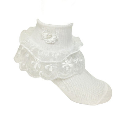 Wrapables® Lil Miss Daisy Double Layer Lace Ruffle Socks (Size of 1-3), Set of 2