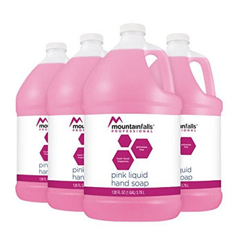 Mountain Falls Professional Pink Liquid Hand Soap Refill, 128 Fluid Ounce (Pack of 4)
