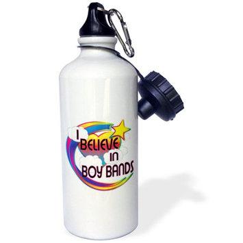 3dRose I Believe In Boy Bands Cute Believer Design, Sports Water Bottle, 21oz