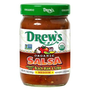 Drews All Natural 100% Organic Cilantro, Corn, Black Bean Salsa 12 oz. (Pack of 12)